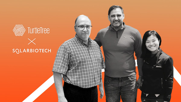 Alex Berlin (left), Founder, CEO & CTO of Solar Biotech, meeting Max Rye (middle), CSO of TurtleTree, and Fengru Lin (right), CEO of TurtleTree