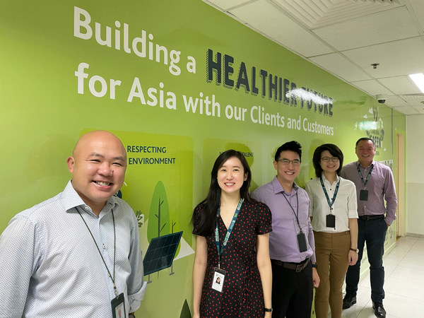 Our let's go green committee in Singapore team holding an exciting recycle-reduce-reuse campaign