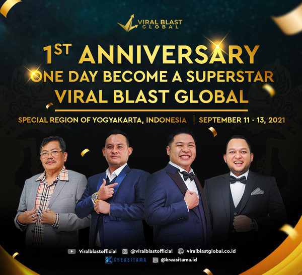 1st Anniversary, Viral Blast Global supports the growth of the creative economy and tourism in Indonesia