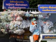 Thai monks bring grocery store to the poor as pandemic hits incomes