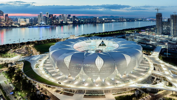 Venue for the opening and closing ceremonies and athletics competitions of Hangzhou 2022 -- Hangzhou Olympic Sports Centre Stadium (Big Lotus)