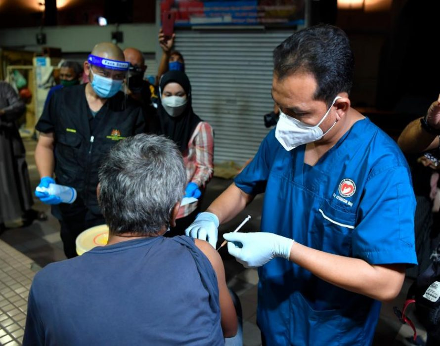 Vaccination for homeless begins in Kuala Terengganu