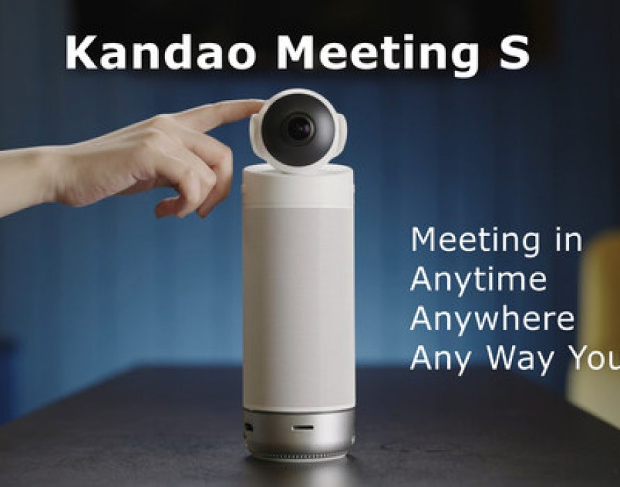 Kandao Technology Released Kandao Meeting S, an Ultra-Wide 180° Standalone Video Conference Camera