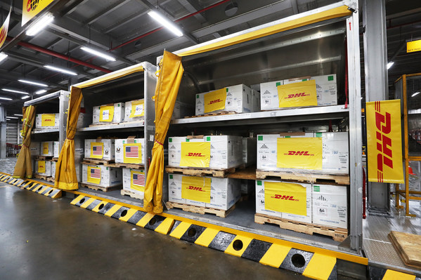 Preparing COVID-19 vaccines for delivery at a DHL facility