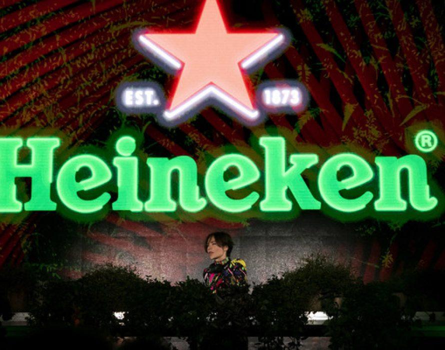 Nina Kraviz kicked-off the Formula 1 Heineken Gran Premio d'Italia 2021 weekend in style with a headline performance at the Heineken® Greener Bar in Milan