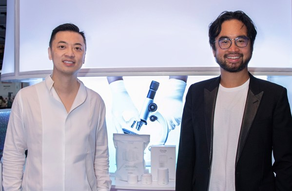 Prenetics CEO Danny Yeung (Left) and Artisan Acquisition founder Adrian Cheng (Right)