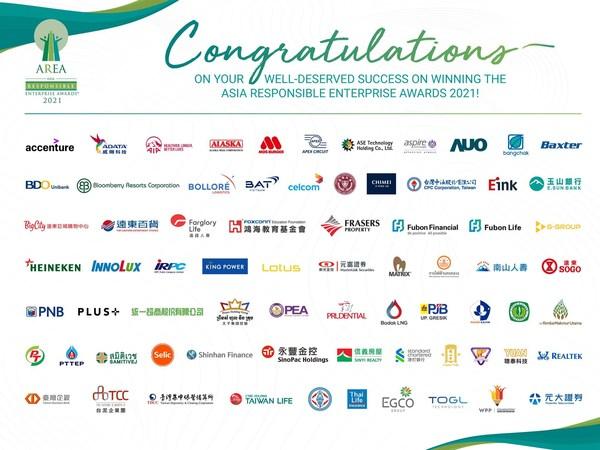 Enterprise Asia announces 69 award recipients at the Asia Responsible Enterprise Awards 2021