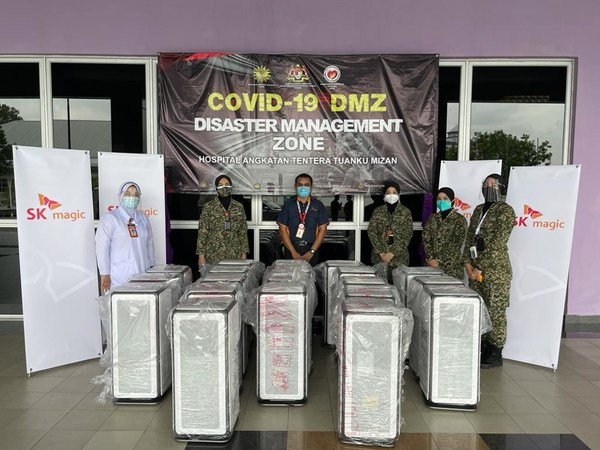 Hospital Angkatan Tentera Tuanku Mizan receives Motion Air Purifiers by SK magic Malaysia to help give a peace of mind to the front-liners, Covid-19 patients and visitors.