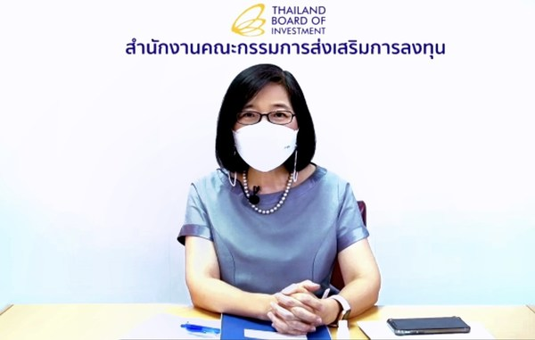 """""""Thailand Board of Investment (BOI) Secretary General Ms. Duangjai Asawachintachit announced that at a meeting held today the board has approved incentives to encourage companies to reduce greenhouse gas emission as well as an enhanced scheme for electric vehicles manufacturing and measures to mitigate the impact of Covid-19 on businesses and support local vaccine development."""""""