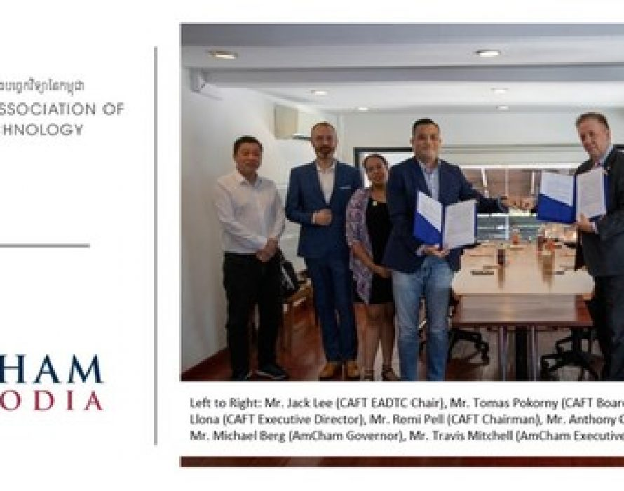 The Cambodian Association of Finance and Technology (CAFT) and the American Chamber of Commerce in Cambodia (AmCham Cambodia) Memorandum of Understanding