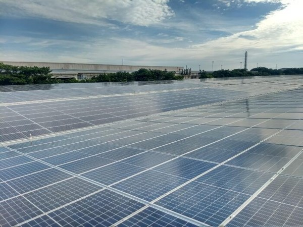 Solar carport installed by TotalEnergies for Renault Nissan Automotive in India