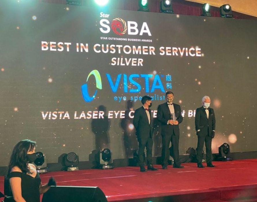 VISTA Eye Specialist (VISTA), wins 2020 Best Customer Service Award from The Star Outstanding Business Awards (SOBA)
