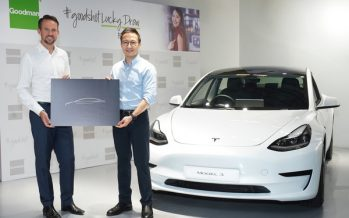 Winners of HK$1 million in prizes including a Tesla Model 3 in the Goodman #goodshot Vaccination Lucky Draw announced