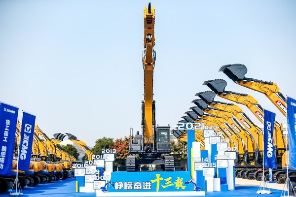 XCMG Excavator Logs Cumulative Production and Sales of 200,000 Units.