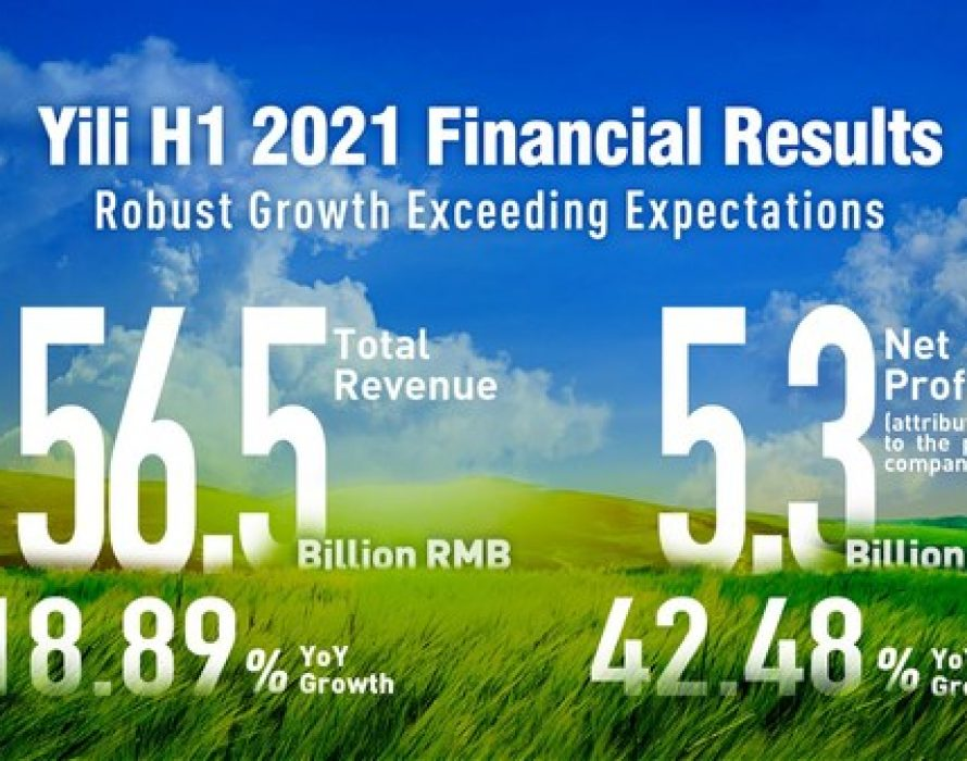 Yili Achieves Double-Digit Growth in Revenue and Net Profit in H1 FY2021