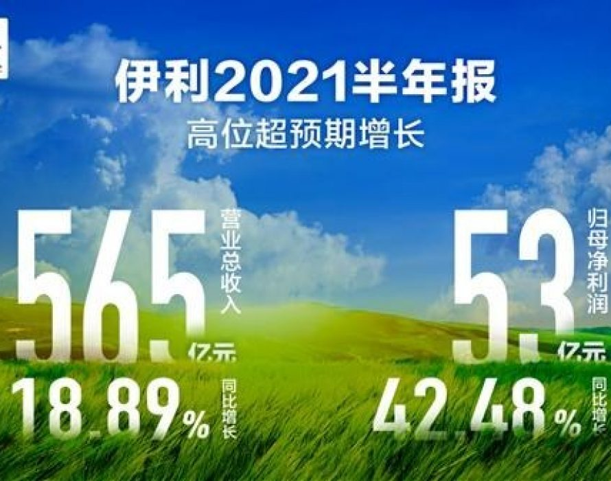 Yili Group records H1 sales revenue of 56.51b yuan