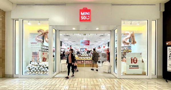 One of the first MINISO $10 N' Under concept stores at Tysons Corner Centre, Fairfax, Virginia